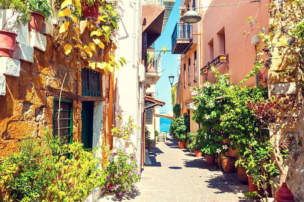 Beautiful street in Chania